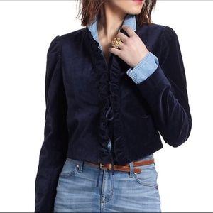 Anthropologie Leifsdottir Size 6 Blue Jacket